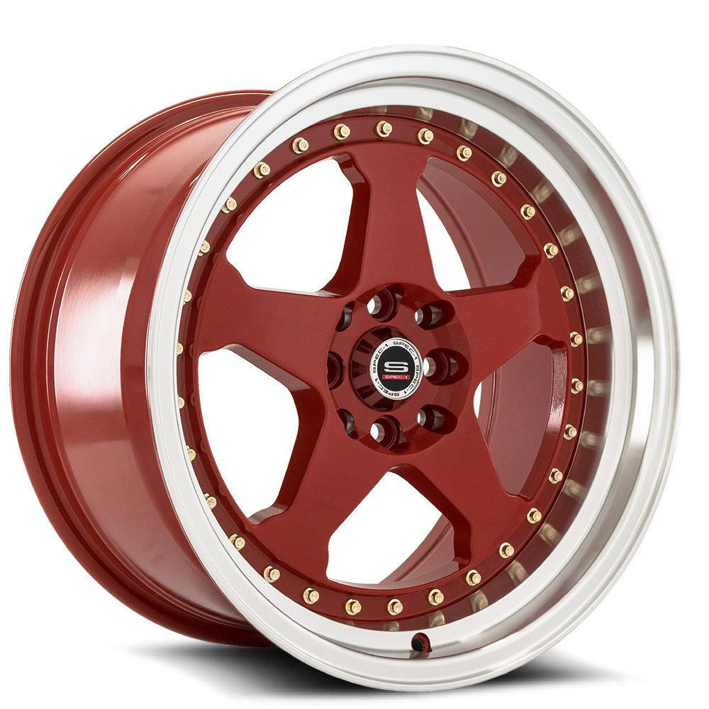 Red Machine Lip Gold Rivets