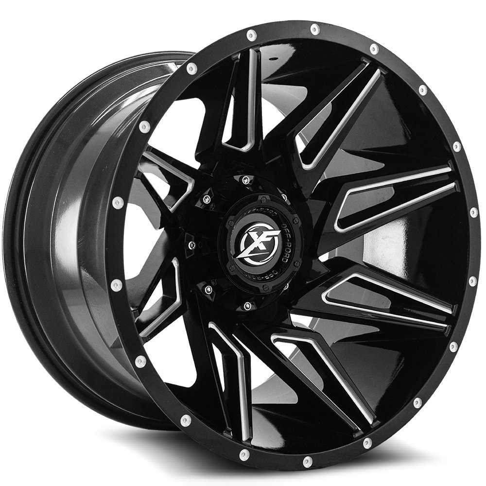 Gloss Black Milled 22x12