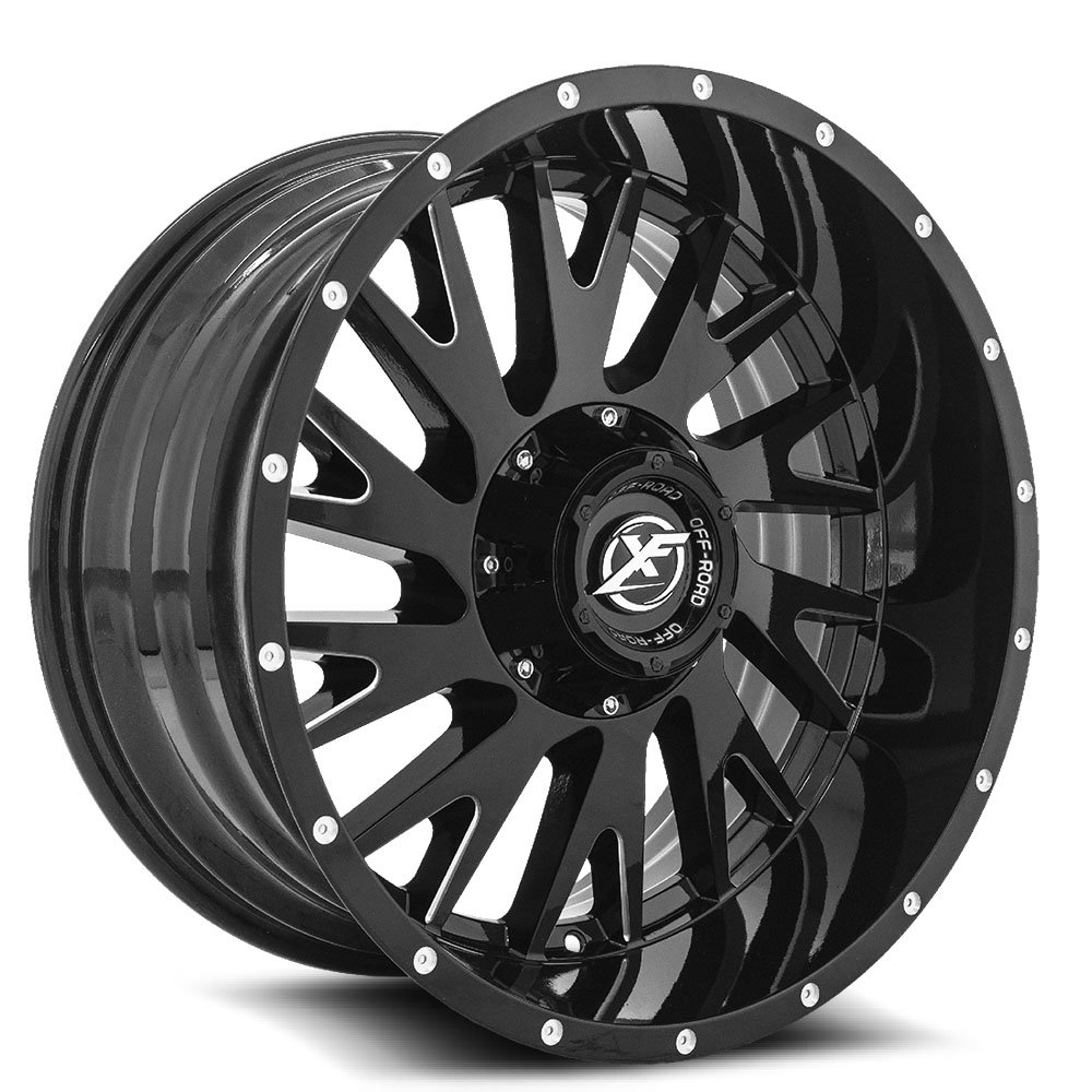 Gloss Black Milled 20x10