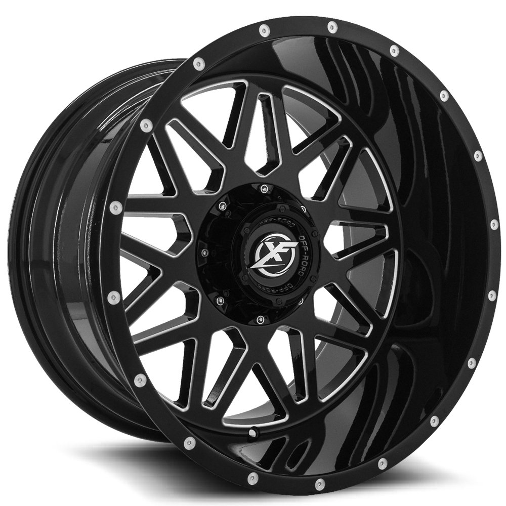 Gloss Black Milled 20x12