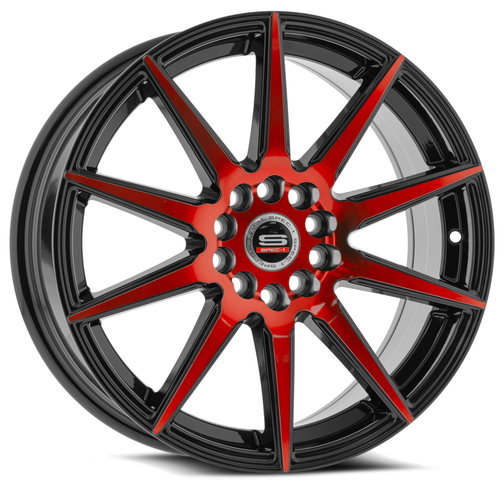Gloss Black Red Milled